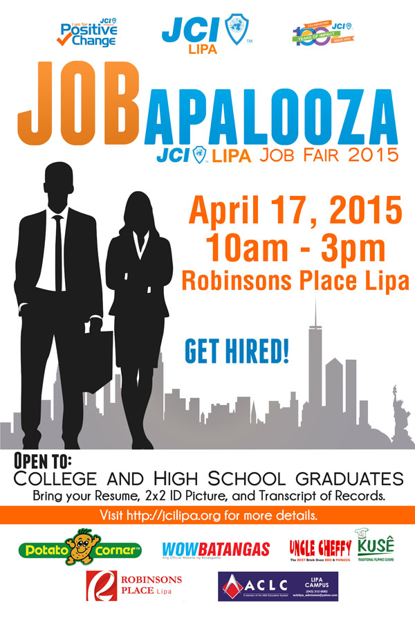 JCI Lipa JOBapalooza Job Fair 2015
